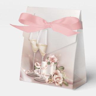 Het Huwelijk van Champagne Bedankdoosjes