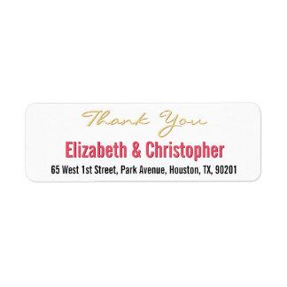 Het Huwelijk van de douane dankt u het Etiket van