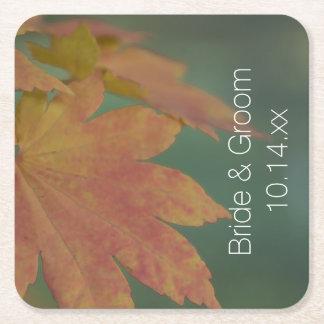 Het Huwelijk van de Kleuren van de herfst Vierkante Onderzetter
