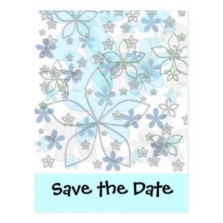 Het Huwelijk van de winter bewaart de Datum Briefkaart