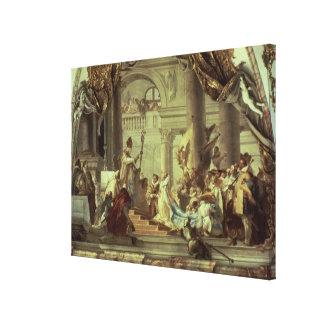 Het huwelijk van Frederick Barbarossa van de keize Canvas Afdruk