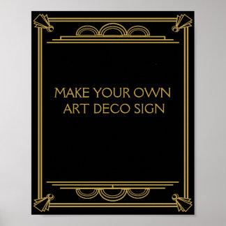 Het Huwelijk van het art deco of het Teken van de Poster