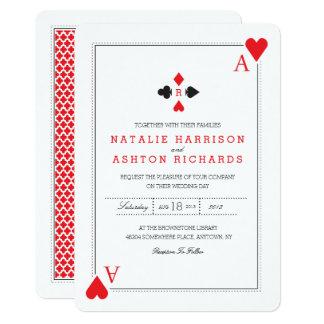 Het Huwelijk van het casino nodigt uit Kaart