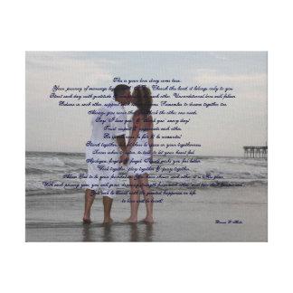 """Het Huwelijk van het strand """"ik """" Canvas Afdruk"""