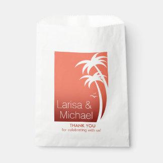 Het Huwelijk van het Strand van de Palmen van het Bedankzakjes 0