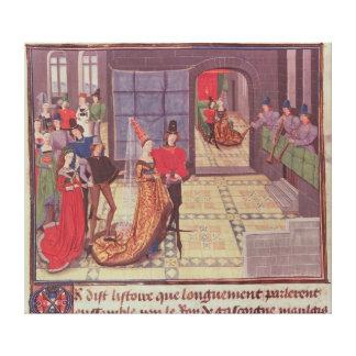 Het huwelijk van Renaud DE Montauban en Canvas Afdrukken