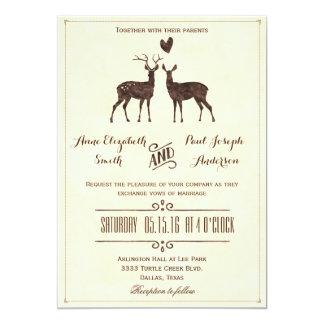 Het huwelijksuitnodiging van Deers van de Kaart