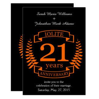 Het huwelijksverjaardag van de Halfedelsteen van 12,7x17,8 Uitnodiging Kaart