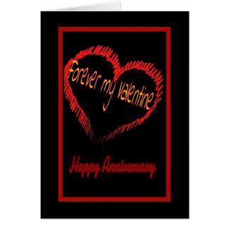 Het huwelijksverjaardag van de Valentijnsdag Wenskaarten