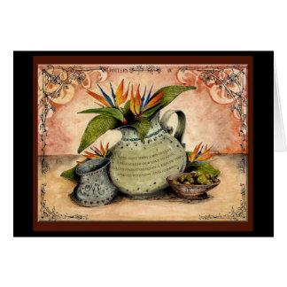 Het huwelijksverjaardag van het aardewerk: Jupigio Kaart