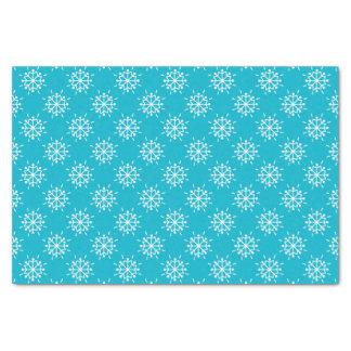 Het ijzige Blauwe Patroon van de Sneeuwvlokken van Tissuepapier