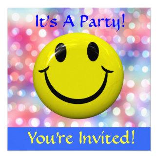 Het is een Partij De gelukkige Uitnodiging van he