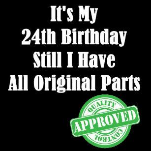 24ste Verjaardag Elektronica Zazzle Be