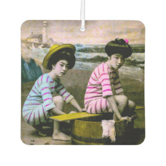 Het Japanse het Baden Vintage Strand Babes van Luchtverfrisser