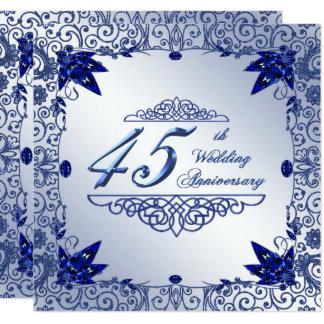 Het Jubileum 5.25x5.25 van het Huwelijk van de 13,3x13,3 Vierkante Uitnodiging Kaart