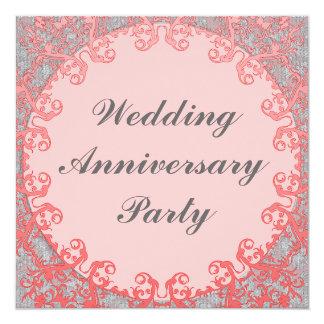Het Jubileum van het huwelijk 13,3x13,3 Vierkante Uitnodiging Kaart