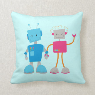 Het Jubileum van het Paar van de robot of de Gift Sierkussen