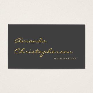 Het kalligrafische Grijze Elegante Visitekaartje Visitekaartjes