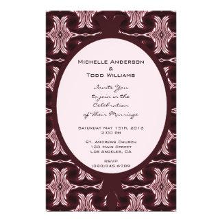 Het kastanjebruine Huwelijk van het Art deco Flyer 14 X 21,6 Cm