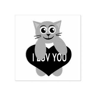 Het Kat van de Valentijnsdag Rubberstempel