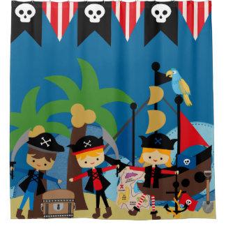 Het kinder Schip en de Piraten van de Piraat Douchegordijn