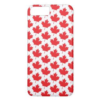 Het klassieke Canadese Patroon van het Blad van de iPhone 8 Plus / 7 Plus Hoesje