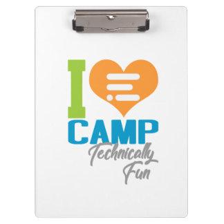Het Klembord van het kamp