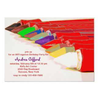 Het kleuren de Uitnodiging van Pennen