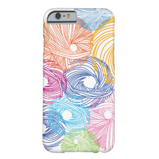 Het kleurrijke hoesje van de kunstillustratie barely there iPhone 6 hoesje