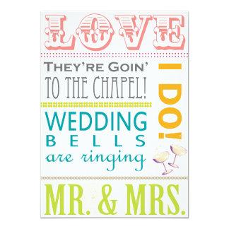 Het kleurrijke Huwelijk van de Typografie Kaart