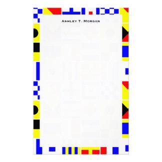 Het kleurrijke ZeevaartSignaal markeert Patroon Briefpapier