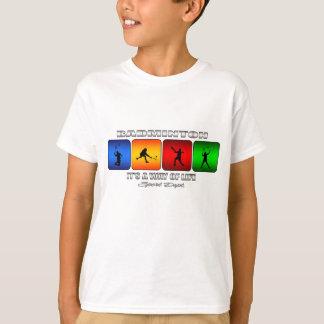 Het koele Badminton het is een Manier van het T Shirt