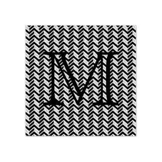 Het koele Blauwe Monogram van het Patroon van de Rubberstempel