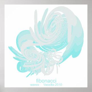 Het Kolossale Poster van de Golven van Fibonacci