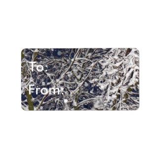 Het Label van de Gift van de Winter To/From van de Addressticker