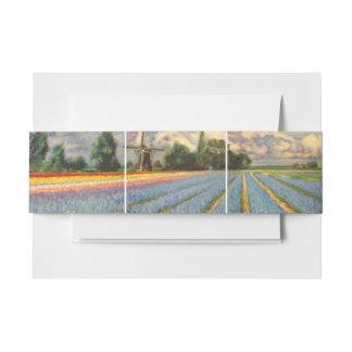 Het Landschap van de bloem met Windmolen Uitnodigingen Wikkel