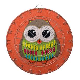 Het leuke en Kleurrijke Oranje Dartboard van de Dartbord