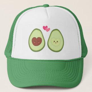 Het leuke paar van de Avocado in liefde, de Mijn Trucker Pet