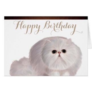 Het leuke Wenskaart van de Verjaardag van de Kat
