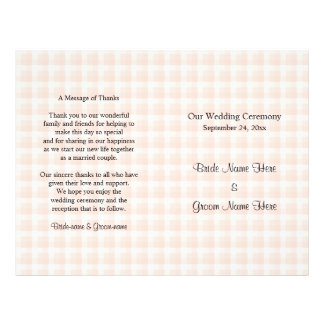 Het lichte Programma van het Huwelijk van het Flyer 21,6 X 27,9 Cm