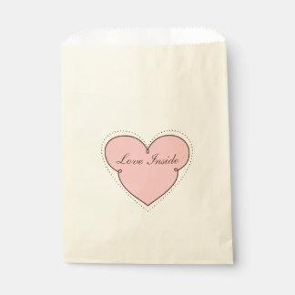 Het Lijst van het hart met binnen de Liefde van de Bedankzakje