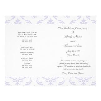 Het lila Grijze Vintage Programma van het Huwelijk Flyer