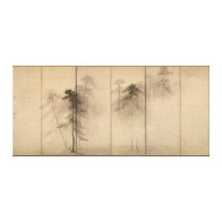 Het LinkerScherm van de Bomen van de pijnboom door Canvas Afdrukken