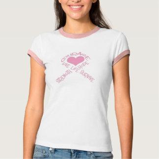 Het lint van de borstkanker van de moed t shirt