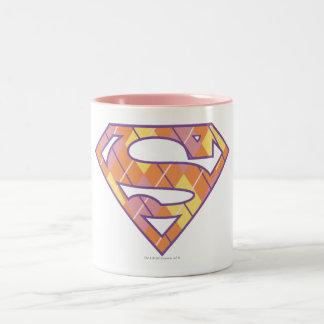 Het Logo van Argyle van Supergirl Tweekleurige Koffiemok