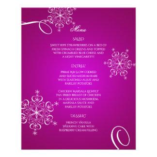 Het magenta Menu van het Huwelijk van de Flyer 11,4 X 14,2 Cm