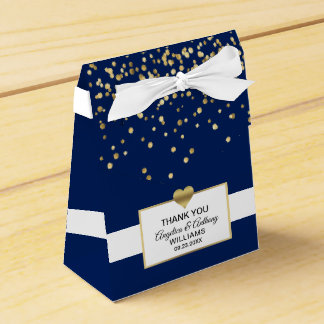 Het marineblauwe Huwelijk van de Gunst van de Bedankdoosjes