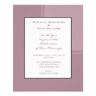 Het Mauve Roze Huwelijk van mod. Flyer 11,4 X 14,2 Cm
