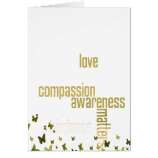 Het medeleven is de Kaart van Vlinders van belang