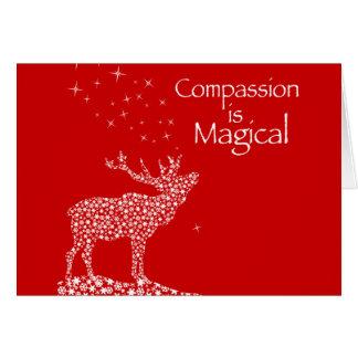 Het medeleven is Magisch Wenskaarten
